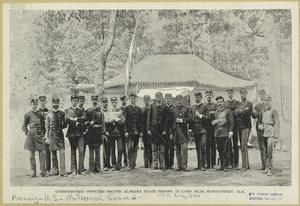 Commissioned officers, Second Alabama State Troops, in camp near Montgomery, Ala.