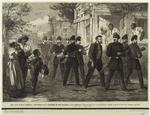 The Civil War in America : drumming out a soldier of the federal army through the streets of Washington.