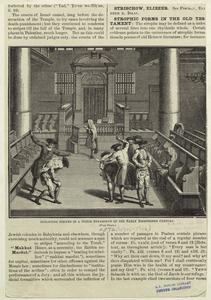 Inflicting stripes in a Dutch synagogue of the early eighteenth century.
