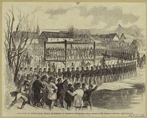 Execution of thirty-eight Indian murderers at Mankato, Minnesota.