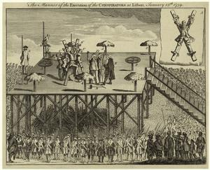 The manner of the execution of the conspirators at Lisbon, January 13th, 1759.