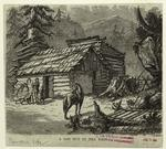 A log hut in the west