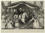 Washington's reception on the bridge of Trenton in 1789 on his way to be inaugurated 1st president of the U. S