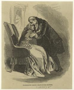 Washington taking leave of his mother.