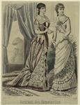 [Women in dresses, France
