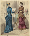 Women Looking At Prints, France, 1882.