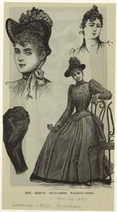 Hat ; sleeve ; Head-dress ; Walking-dress.