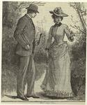 Man And Woman Standing Outdoors, United States, 1890s.