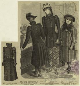 [Girls in coats, United States, 1890s.]