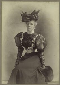 [Portrait of a woman with a hat and muff, United States, 1890s.]