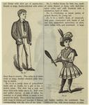 Boy In A Cricket Jacket ; Girl In Frock With Racket, United States, 1890s.