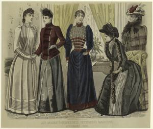 Les modes parisiennes, Peterson's magazine, November, 1890.