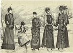 [Women outdoors, winter,