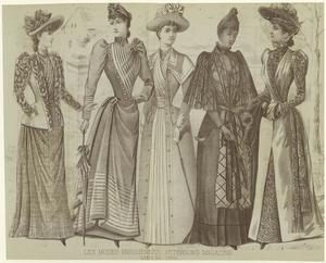 Les modes parisiennes, Peterson's magazine, March 1891.