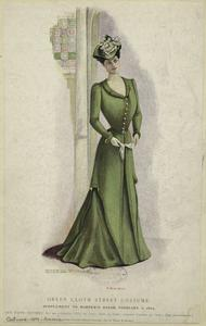 Green cloth street costume.