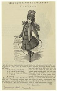 Girl's coat, with supplement.