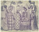 Les modes parisiennes, Peterson's magazine, May 1891.