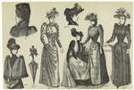 Women Wearing Various Styles Of Hats And Bonnets ; Parasol.
