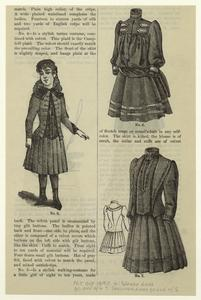 Blouse dress for girl of 6 [Fig. 6] ; Cashmere dress for girl of 5 [Fig. 7.]""