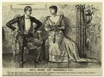 Man And Woman Seated Indoors, England, 1890s.