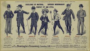 [Advertisement for boys' suits, England, 1898.]