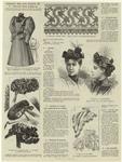 Robe Pour Fillette De Douze Ans (Devant Et Dos) ; Group De Collerettes ; Dentelle Au Crochet ; Chapeaux De Fantaisie ; Groupe De Cols ; Sac De Nuit En Granité Crème ; Sac Chantilly.