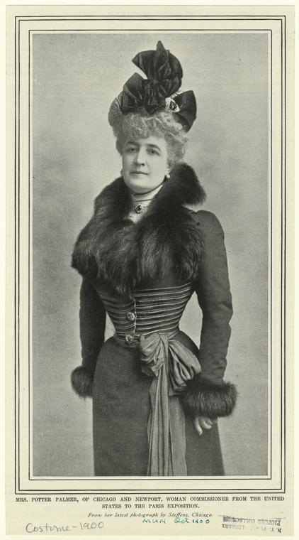 Mrs. Potter Palmer, of Chicago and Newport, woman commissioner from the United States to the Paris exposition.