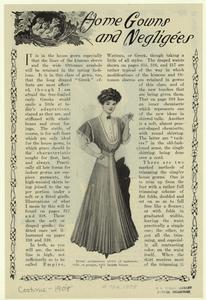 Home afternoon gown of cashmere, voile, or pongee, with batiste blouse.