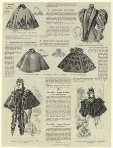 [Women's capes and jackets, France, 1890s.]