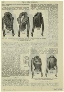 Ladies' short double-breasted coat or jacket, to be worn open or closed, and to have the sleeves in fancy outline or straight-around at the waist ; Ladies' coat or jacket, gored to the shoulders, and having a plain or fancy outline at the lower edge.