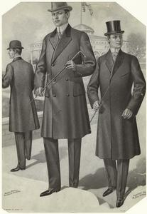 [Well-dressed men, outdoors, 1901s.]