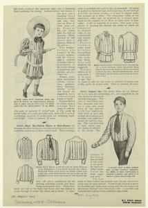 [Boys' suits and shirts, 1901s.]