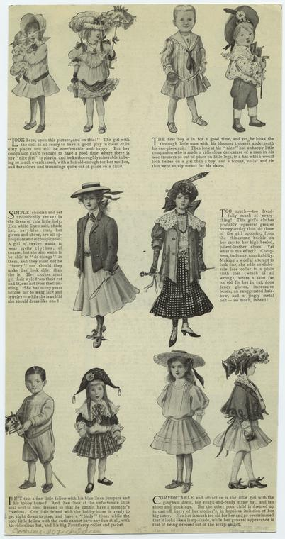 [Children in dresses, jumpers, and jackets, 1901s.]