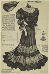 Chiffon cloth and lace.