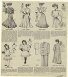 Ladies Costume ; Misses' Shirtwaist ; Girls' Blouse Dress ; Girls' Sailor Suit ; Men'S Pajamas ; Ladies' Artist Or Work Apron.