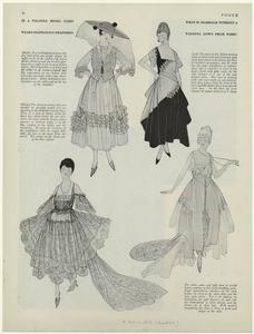 [Women in various styles of dresses, 1910s.]