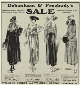 Debenham & Freebody's sale, exceptional bargains in all departments.