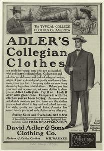 Akler's collegian clothes.
