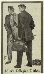 Adler's collegian clothes.