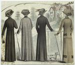 [Women in coats and hats