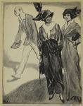 [Women in hats standing a