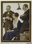 Elderly Men And Young Woman In Office, Ca. 1918.