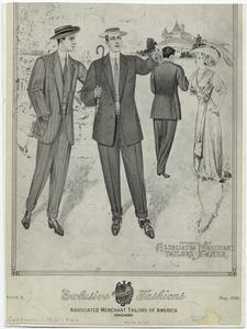 Exclusive fashions, Associated Merchant Tailors of America, Chicago.