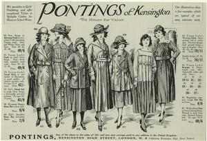 Pontings of Kensington--the house for value--we specialise in girls' outfitting, and offer exceptional value in reliable clothes for home or school wear.
