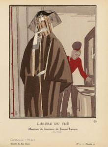 L'heure du thé : manteau de fourrure, de Jeanne Lanvin.