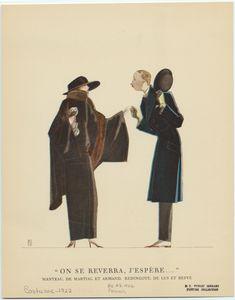 Manteau, de Martial et Armand ; Redingote, de Lus et Befve.