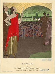 À l'Oasis, ou, La voute pneumatique : robe du soir, de Paul Poiret.