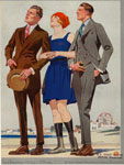 Men In Suits And Woman In Bathing Suit, United States, 1920s.