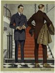 Men Standing Near A Staircase, United States, 1920s.