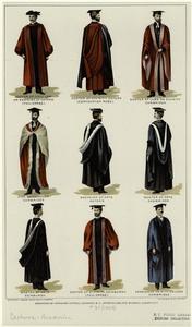 [Academic robes of Oxford, Cambridge, and Edinburgh Universities.]